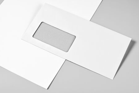 Blank stationery: letterheads and envelope