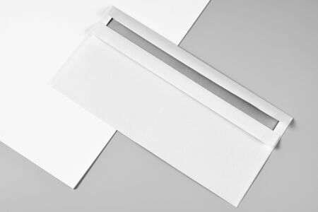 Blank Letterhead or Sheet of Paper and Envelope
