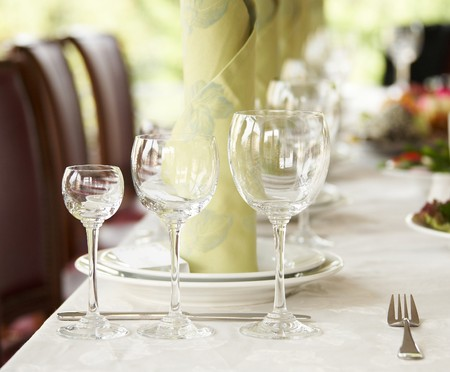 Dinner setting  Stock Photo