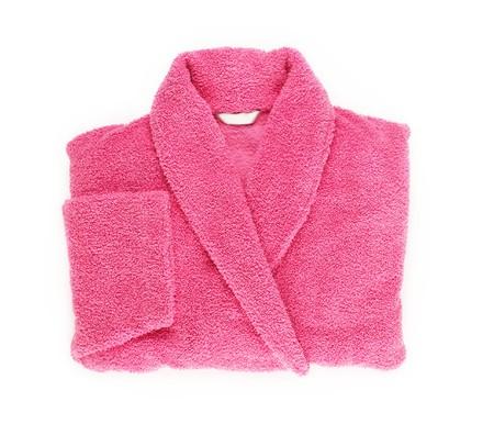 Pink double female bath robe Standard-Bild