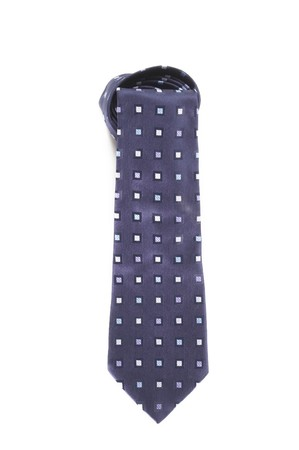 Fashionable man blue tie with pattern  Stock Photo