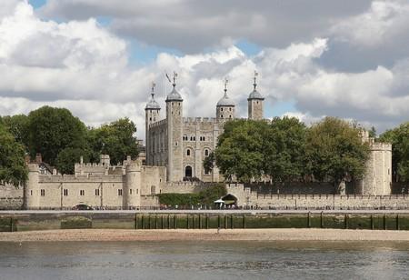 Gezicht op de toren van de Thames Stockfoto