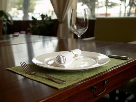 Fragment  of holiday dinner setting Standard-Bild