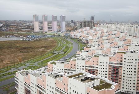 Moskou zicht op nieuwe gebouwen