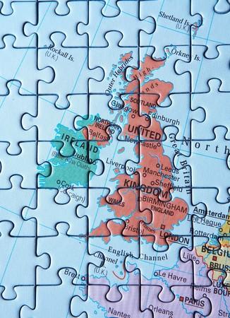 Puzzel kaart: Verenigd Konink rijk en Ierland