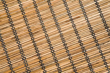 Bamboo mat with black threads texture in diagonal Stock Photo - 4685032