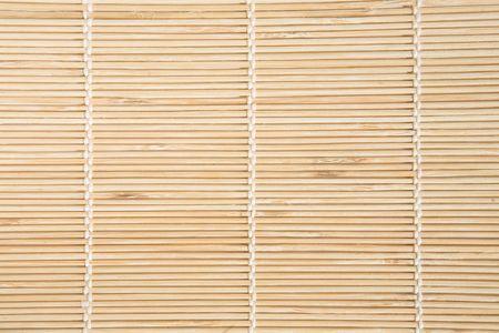 Bamboe mat met witte draden textuur