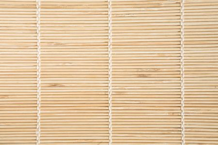 Bamboo mat with white threads texture