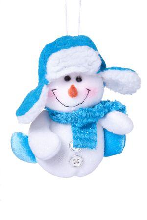 Christmas toy Snowman on white background photo