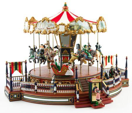 Merry-go-round toy on white