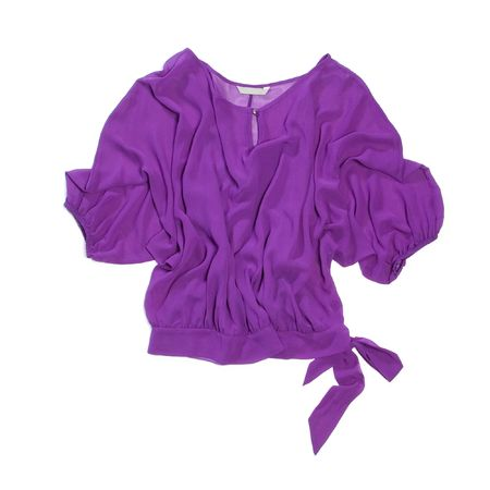 Lila vrouw blouse op wit