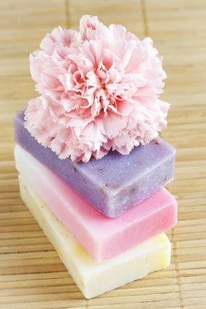 Drie zeep met natuurlijke ingrediënten