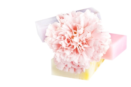 Three soap bars with natural ingredients