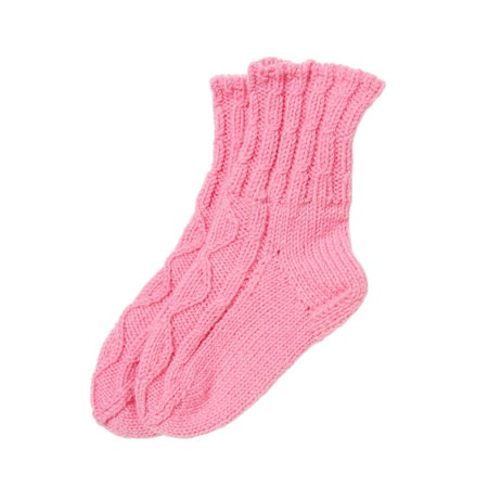 Baby wool socks isolated on white