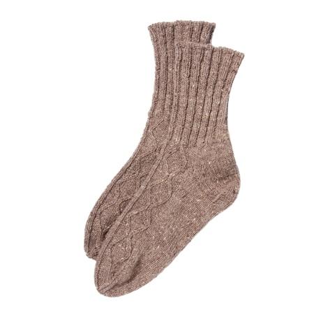 brawn: Brawn wool socks isolated on white Stock Photo