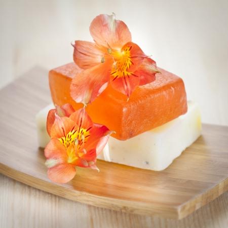 Twee zeep met natuurlijke ingrediënten