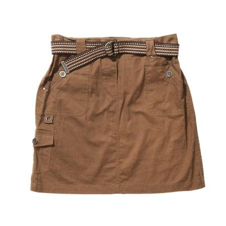 brawn: Brawn skirt with belt isolated on white