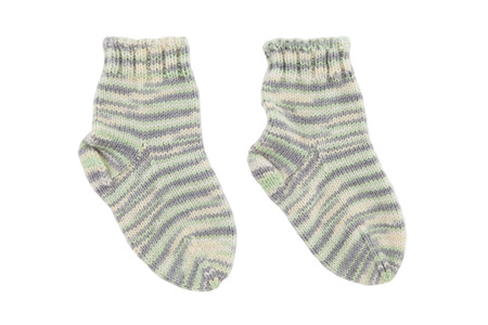 tricot: Kid wool socks isolated on white