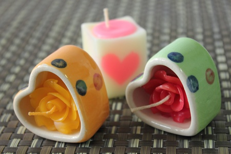 Heart candle. photo