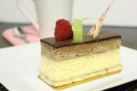 chocolate cheese cake Stock Photo