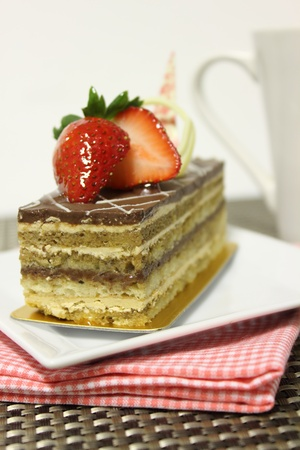 vanil: opera cake Stock Photo