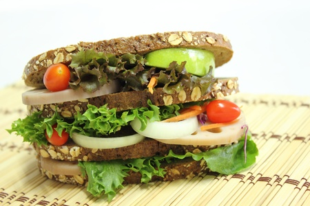 Healthy sandwich photo