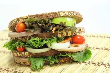 Healthy sandwich photo