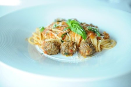 Spaghetti with the ball Stock Photo - 12939425