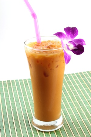 milk ice tea Stock Photo