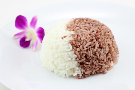 White rice red rice