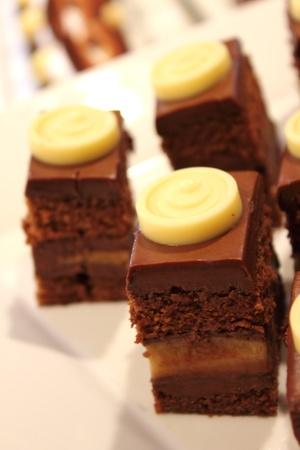 A  homemade chocolate cake with banana filling Stock Photo - 13402753