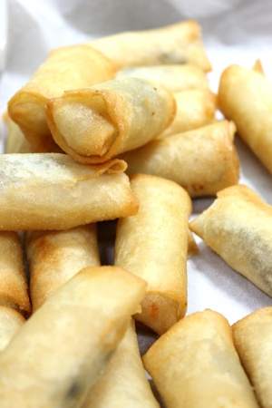 A appetizer fried spring roll asian food Stock Photo - 13562516