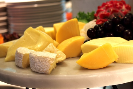 A cheese relaxation on board  appetizer buffet photo