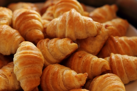 Fresh and tasty croissant Stock Photo