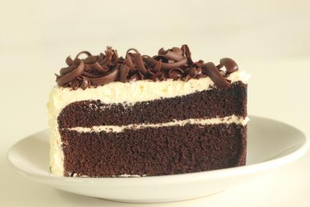 to cake layer: Strato di torta al cioccolato decorata con linea di cioccolato