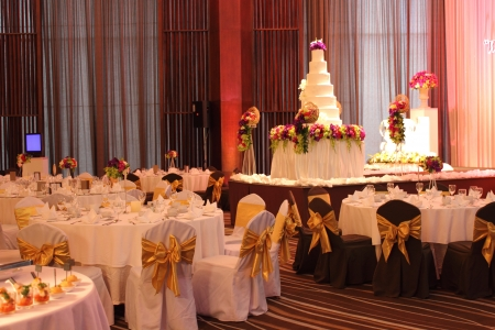 wedding party: Made up venue for a wedding party