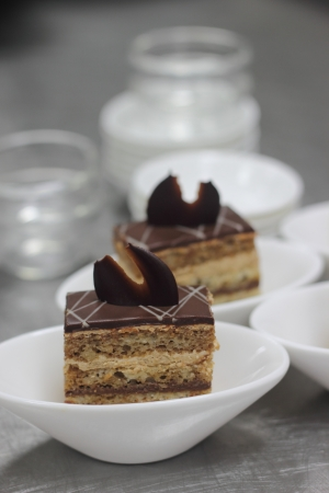 Opera cake mini Stock Photo