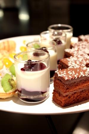 cake decorating: the assorted miniature decorative desserts
