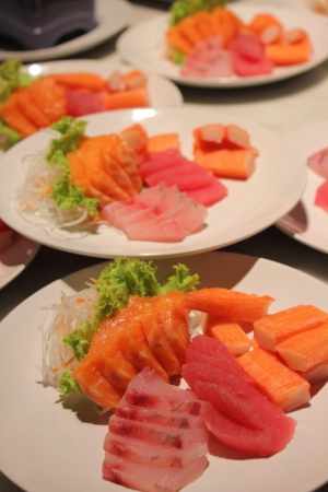 Salmon tuna Sushi photo