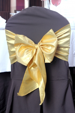 Seat cover brown color Tied with gold ribbon photo