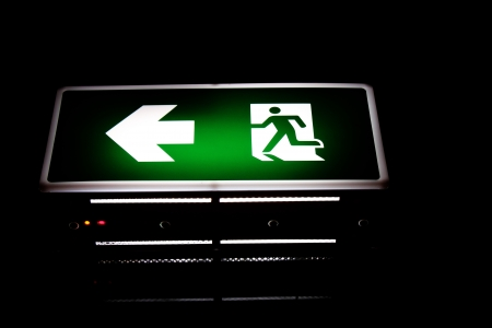 A Fire signs  fire exit signs light photo