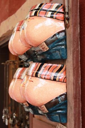 moulded: Un fondo que muestra la forma de marionetas de fibra moldeada Foto de archivo