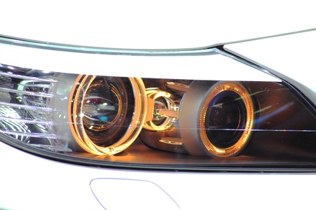 Headlight Of A Luxury Sports Car