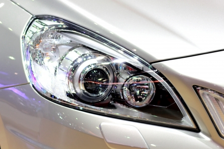 headlight from a modern car