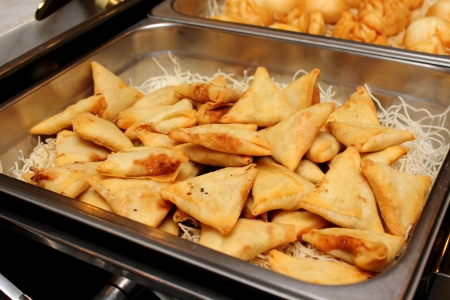 ramzan: The indian samosas on an ndian style Stock Photo