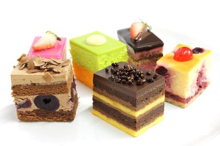 Mini cake delicious and beautiful. photo