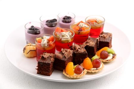 Ein sortierten Mini-Kuchen lecker und schön.