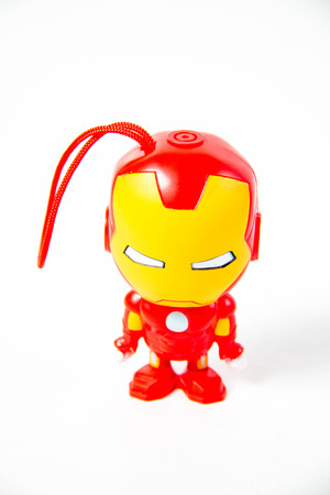 plastic toys: bright colourful plastic  toys on white background