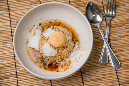 cooked instant noodle: Instant  noodles  Cheap and unhealthy, but very popular especially among college students.