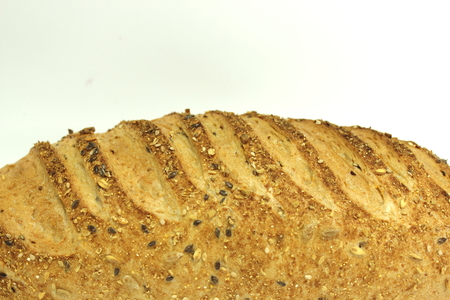 long loaf: Big long loaf of rye bread with seeds.
